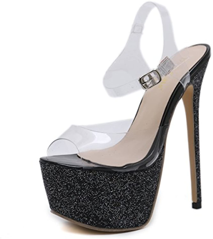 e86e99e204e9f8 les sandales de chaussures étanches étanches étanches pour femmes avec une  plate forme poisson bouche sexy nightclub b07ddk9zhn surhauteur des parents  ...