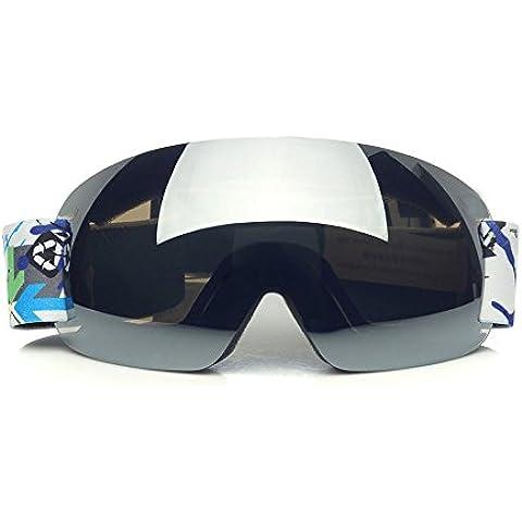 CHT Doppio Antinebbia Sci Grande Specchio Visione 170 Millimetri Colore Opzionale,White