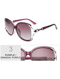 TIANLIANG04 Vintage Sobredimensionado Gafas De Sol Polarizadas Para Mujer Gradiente Posterior Lentes Para Gafas De Sol