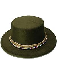 Fashion Cappello a maniche lunghe piatto in lana per uomo Cappello ampio in  feltro a tesa larga per uomo Pupazzo in… ef536c28dd40