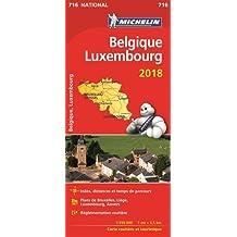 Carte Belgique, Luxembourg Michelin 2018