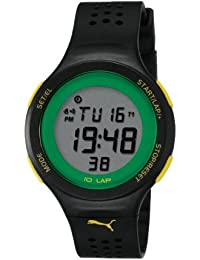 Puma Faas 200 Unisex Digital Watch with LCD Dial Digital Display and Black Plastic or PU Strap PU910931001