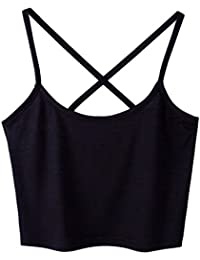 Sanwood Women's Sexy Tank Tops Cami T-Shirt Summer Vest Crop Top