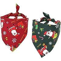 ZHI BEI Hat Pink Santa - 2 for Mascotas Toalla de la Saliva de la Toalla de algodón for Mascotas de la Bufanda del Gato y de los Accesorios del Perro Exquisito y Encantador Exquisito y Lind