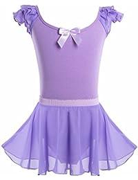 368aebbceb865 iiniim Justaucorps Danse Gymnastique Patinage Yoga Robe de Danse Classique  Enfant Fille Body Combinaison sans Manche