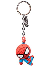 a5019bb8d01 Bioworld BIO-KE020304SPN Marvel Comics Spider-Man Character 3D Pendant  Rubber Keychain