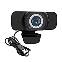 Benkeg Wide Angle Webcam, Large View Video Conference Camera, Full HD 1080P Live Streaming Web Cam with Built-in Microphone, Computer Camera USB Webcam