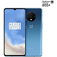 OnePlus 7T Smartphone Glacier Blue | 8 GB RAM + 128 GB Speicher | 16,6 cm AMOLED Display 90Hz Screen | Triple Kamera + Front-Kamera | Warp Charge 30