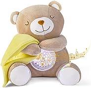 Peluche Bebés Musical, APUNOL USB Recargable Proyector Bebes Luces y Musica JugueteTeddy regalos para bebes re