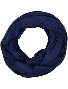 Kinder - Loop uni dunkelblau für Kleinkinder, Kinder und Jugendliche, Kids Schlauchschal, Schal Tuch für Mädchen...