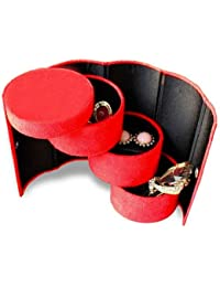 exciting Lives Pink Pretty Compact Jewellery Box Cum Organiser