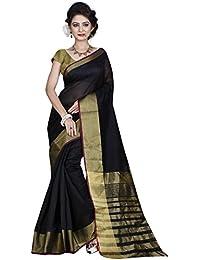 Hinayat Fashion Cotton Silk Saree (Nht01Sri375_Black)