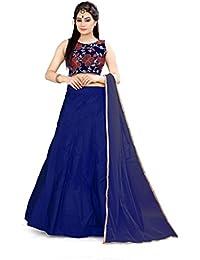 Shree Rang Creation Women's Blue Taffeta Silk Designer Lehenga Choli(AFL-25_Blue_Free Size)