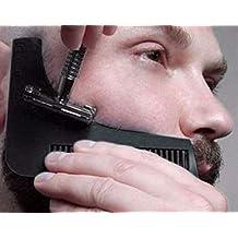 Peigne à barbe - Pochoir pour les hommes - léger et flexible - taille unique - coupe courbe - Outils de forme - bordure contour ligne de barbe, moustache, pattes et front