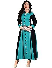 Kesari King New Designer Womens Cotton Printed Semi Stiched Kurti(BABYBOLLLIGHTFIROZI)
