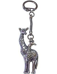 Ohrringe Ohrstecker Stecker Giraffe Zoo Tier Glitzer Enamel Straß Straßstein NEU