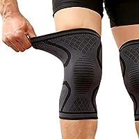 WEYON Kniebandage, Bequem Sport Kompression Knieschoner für Gelenkschmerzen und Arthrose Relief, Elastische Atmungsaktiv Kniestütze für Fitness, Krafttraining, Gewichtheben(1 Pear)