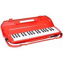 Abeja 37clave Melodica tubo de estilo de piano con funda rígida y boquilla de repuesto