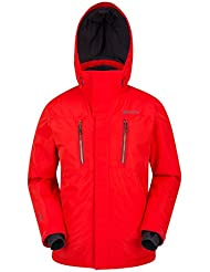 Mountain Warehouse Galaxy Ski Jacket - Taped Seams, Waterproof Mens Jacket, Breathable Mens Coat, Detachable Snow Skirt, Ski Pass Pocket - For Cold Weather