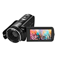 1080P Full HD Digital Video Camera Camcorder with Digital Rotation LCD Touch Screen