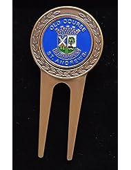 """'puede arreglapiques de latón con diseño Ball Marker """"Golf Old Course St. Andrews–Un bonito regalo en la caja de regalo"""
