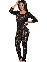 Lukis Overall Catsuit Jumpsuit Hosenanzug jumpsuit Transparent bodystocking