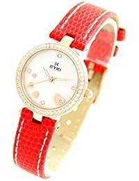 Eyki Femme MONTRE2576 - Reloj , correa de cuero color rojo