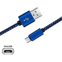 Cable Micro USB superior ZRL® Nylon trenzado Micro USB 2.0 Cables de datos duraderos para Samsung, Nexus, LG, Kindle, Motorola, Sony, Android y más