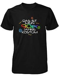 Shirtfun24 Herren DAS IST MEIN 90er JAHRE KOSTÜM Karneval Fasching T-Shirt