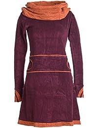 Vishes - Alternative Bekleidung – Samtkleid mit Kapuzenkragen