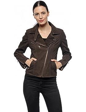 DGC Leather - Chaqueta - cuello mao - para mujer