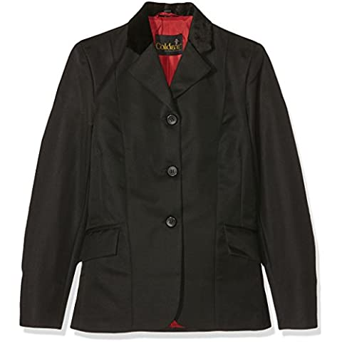 Caldene - Giacca da concorso per equitazione da ragazza Waterton, nero (nero), 76 cm - 76 Blazer