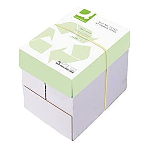 Q Connect 100% Recycled Multifunctional A4 80 gsm Copier Paper - 5 x Reams of 500 Sheets Per Box