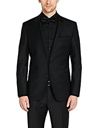 Menjestic Men's Black Formal+Party Wear Blazer