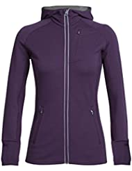 Icebreaker Damen Quantum Long Sleeve Zip Hood Jacke