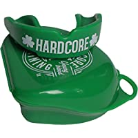 Hardcore Training Mouthguard Adults - Blue Green - Sports Mouth Guard - MMA Rugby Hockey Boxing Karate-Green Protector Bucal Deportes de Contacto Artes Marciales Boxeo