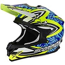 Scorpion Casco Moto VX-15 EVO AIR Revenge, Neon Yellow/Blue/Black, M