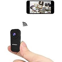 FREDI Cámara Espía HD 1080P Mini Cámara Oculta Portátil Interior/Exterior WiFi Cámara IP de