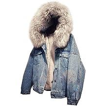 new product b89ce e4ba0 Damen Jeans Jacke mit Fell - Suchergebnis auf Amazon.de für