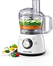 Black+Decker 400W 18 Functions Food Processor with 4 Accessories Stainless Steel Blades and 2 Speed Pulse Func