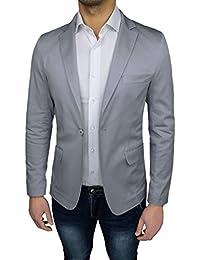 ec425b798a80 Giacca Uomo Sartoriale Grigio Slim Fit Aderente Casual Elegante Estiva Made  in Italy