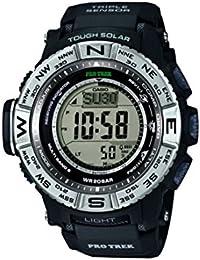 Casio Herren-Armbanduhr Pro-Trek Digital Automatik Schwarz PRW-3500-1E