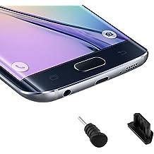 kwmobile 2x Tapónes anti-polvo para Smartphones en negro - Protección anit polvo y suciedad - compatible por ej. con Samsung, Apple, Wiko, Huawei