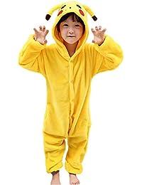 JunYito Pijama Animale Niños Niña Adulto Mujer Invierno Kigurumi Unicornio Disfraz Cosplay Halloween ...