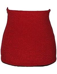 Belldessa Nierenwärmer - Uni rot feuerrot / kräftig - Bauchwärmer Fleece Frottee Nierengurt - Leibwärmer / Bauchwärmer - Männer Frau Kinder Sport - Bauchband Baby