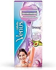 Gillette Venus Breeze Hair Removal Razor for Women with Avocado Oils & Body Butter, Freesia S