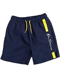 Ben Sherman Shorts Baño Blazer Azul Marino/Amarillo Logo Pantalones Cortos Siglos 3Y hasta 1