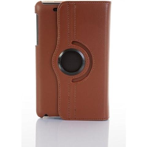 JAMMYLIZARD | Funda De Piel Giratoria 360 Grados Para Nexus 7 2012 (1ª Gen.) Smart Case, MARRÓN