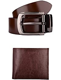 Exotique Men's Formal Belt & Wallet Combo (EC0005)