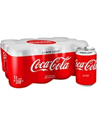 Coca-Cola - Light, Refresco con gas de cola, 330 ml (Pack de 12), Lata